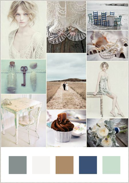 Muted colour #moodboard blue hues and earthy tones