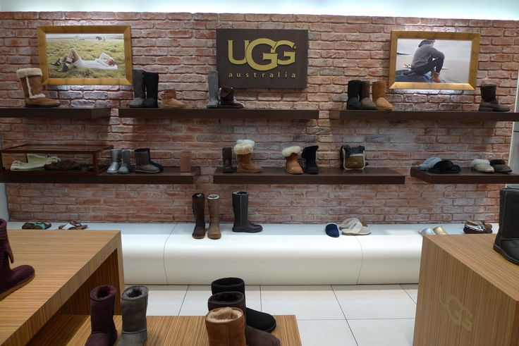 artificial Stone wall  in UGG shop
