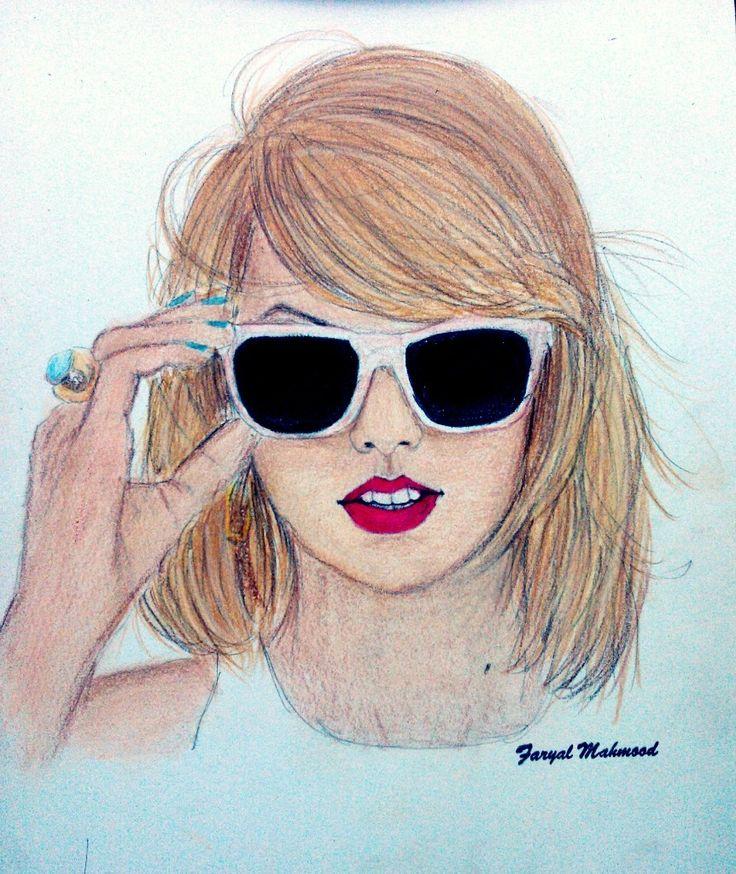 Pictures Of Taylor Swift Sketch Kidskunstinfo
