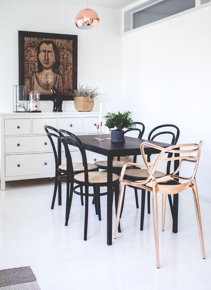 KOTONA JA KAUKOMAILLA / scandinavian interior blog / finnish interior blog / sisustus / thonet chair / kartell masters / dining / ruokailutila
