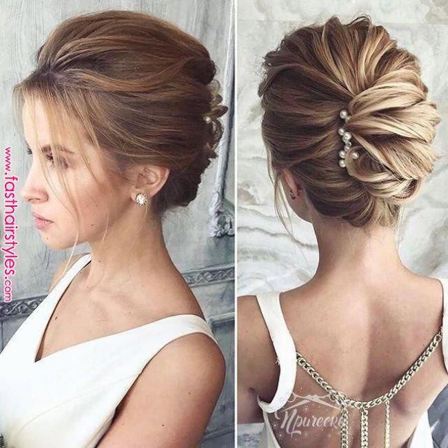 Ces coiffures de mariage de longueur moyenne sont vraiment à la mode.  #coiffur…