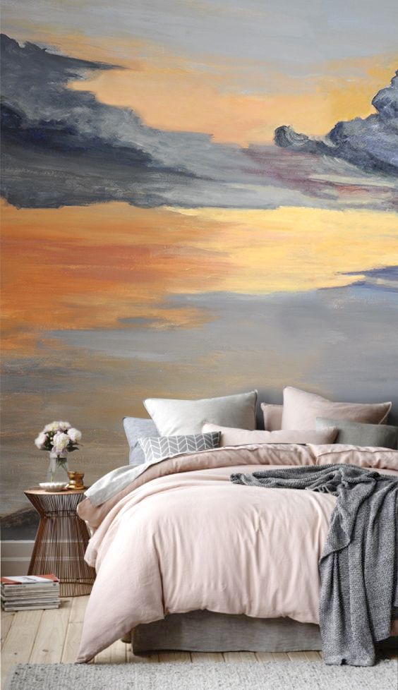 Hλιοβασίλεμα, τοιχογραφία  Sunset mural