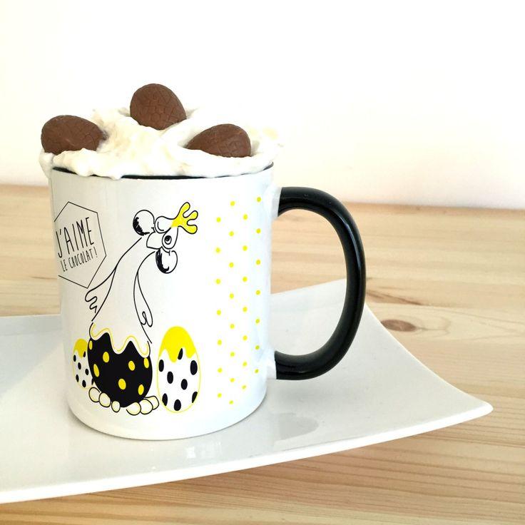 Créez vos mugs cakes de Pâques grâce à vos petits œufs  en chocolat !