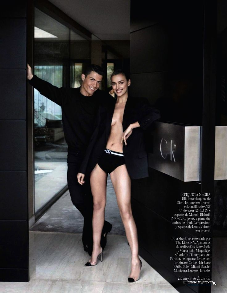 irina shayk and cristiano ronaldo by mario testino for vogue spain june 2014