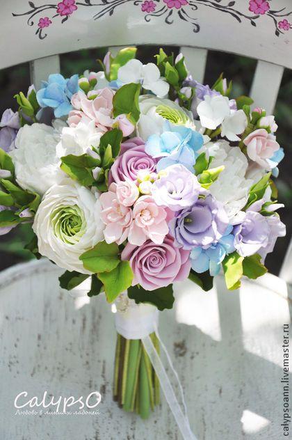 """Букет невесты """"Dreams of Mary"""" - букет невесты,Калипсо,аннапокк,цветы из глины"""