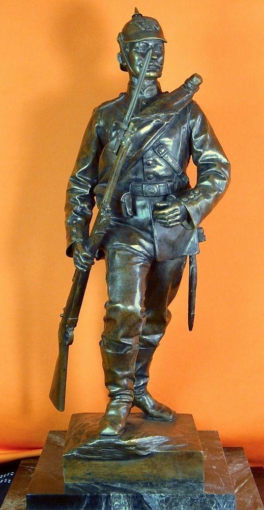 German Germany Pre Ww1 Waldemar Uhlmann Bronze Military