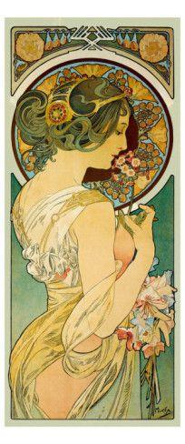 La Primevere - Alphonse Mucha (Giclee Print)