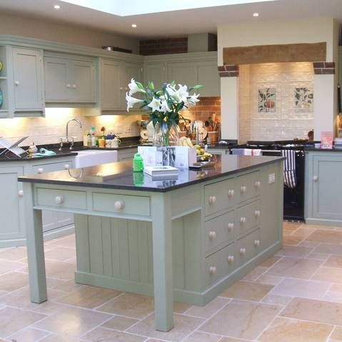 Borrowed light - Farrow and Ball -  Kitchen