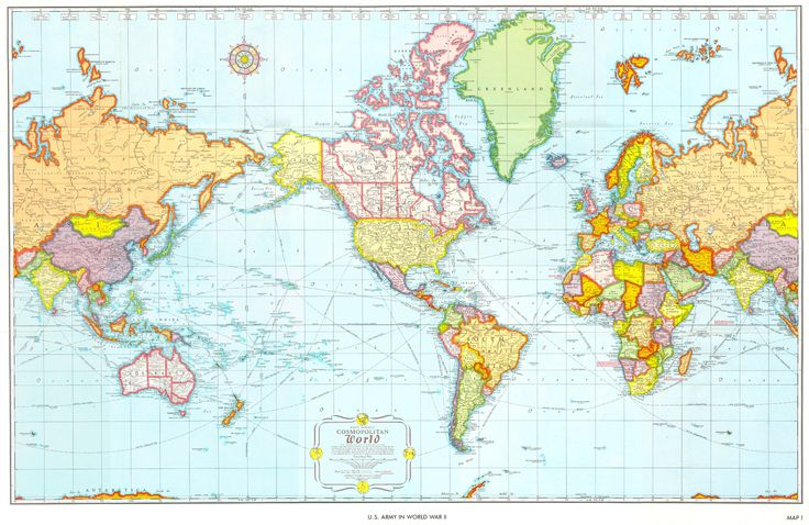 World map for USA