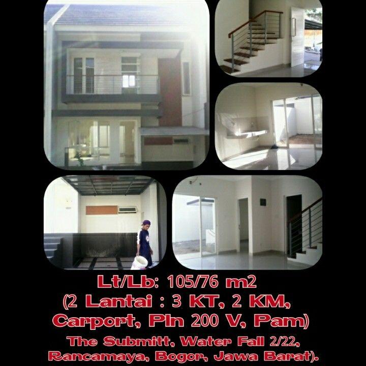 The Submit, Water Fall 2 no. 22, Rancamaya, Bogor, Jawa Barat.  Lt/Lb. 105/76 m² (2 Lantai). 3 Kamar Tidur, 2 Kamar Mandi, Carport, PLN (2200 V), PAM.    Peminat Serius, hubungi :  Arie Cahyana  08159898965 / 02135803389  #realestate #realestateagent #estate #estate2015 #house #home #dreamhouse #agent #rumah #rumahminimalis #bangunan #perumahanbogor #perumahan #perumahanmurah #bogor #bogorcity #pemukiman #rancamayaestate #rancamaya #rancamayagolf #jawabarat #jawa