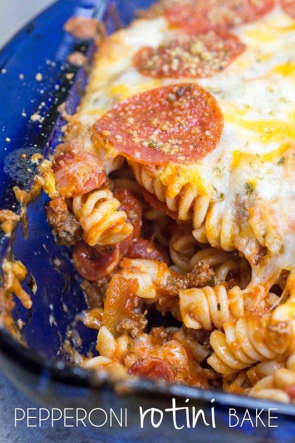 Pepperoni Rotini Bake I www.orwhateveryoudo.com I #recipe #cooking