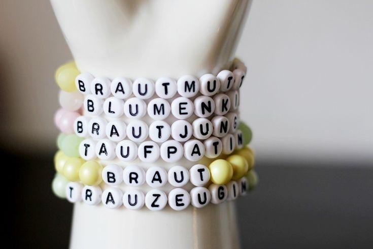 Armband mit Namen,Wunschtext, Vanille, Mint, Rosé