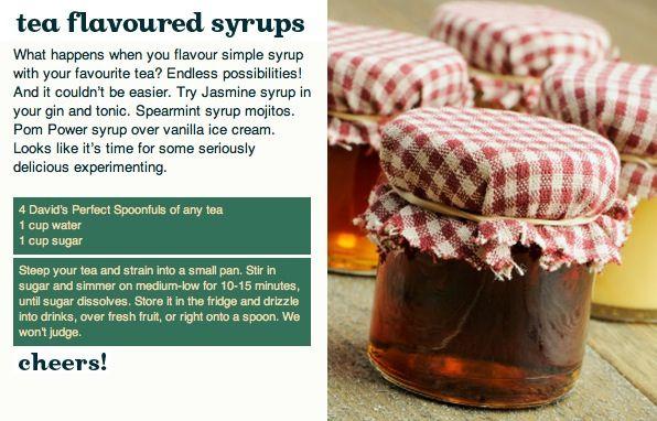 Tea Flavoured Syrups, via Flickr.