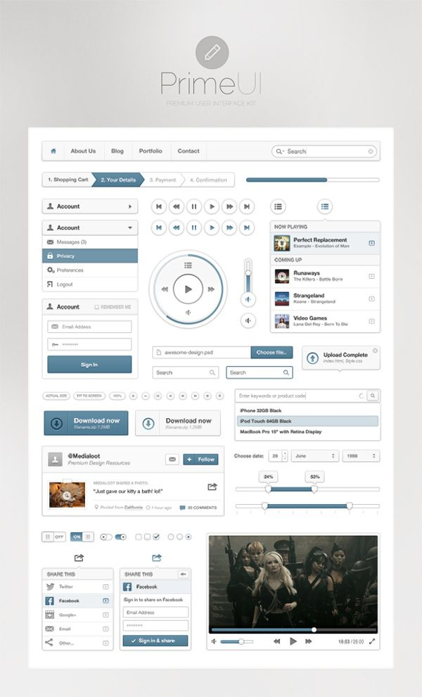 Prime UI by Webkho Design, via Behance