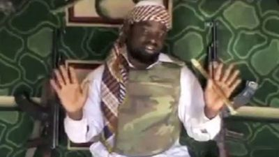 Abubakar Shekau, leader of Boko Haram (Islamic terrorist group in Nigeria)
