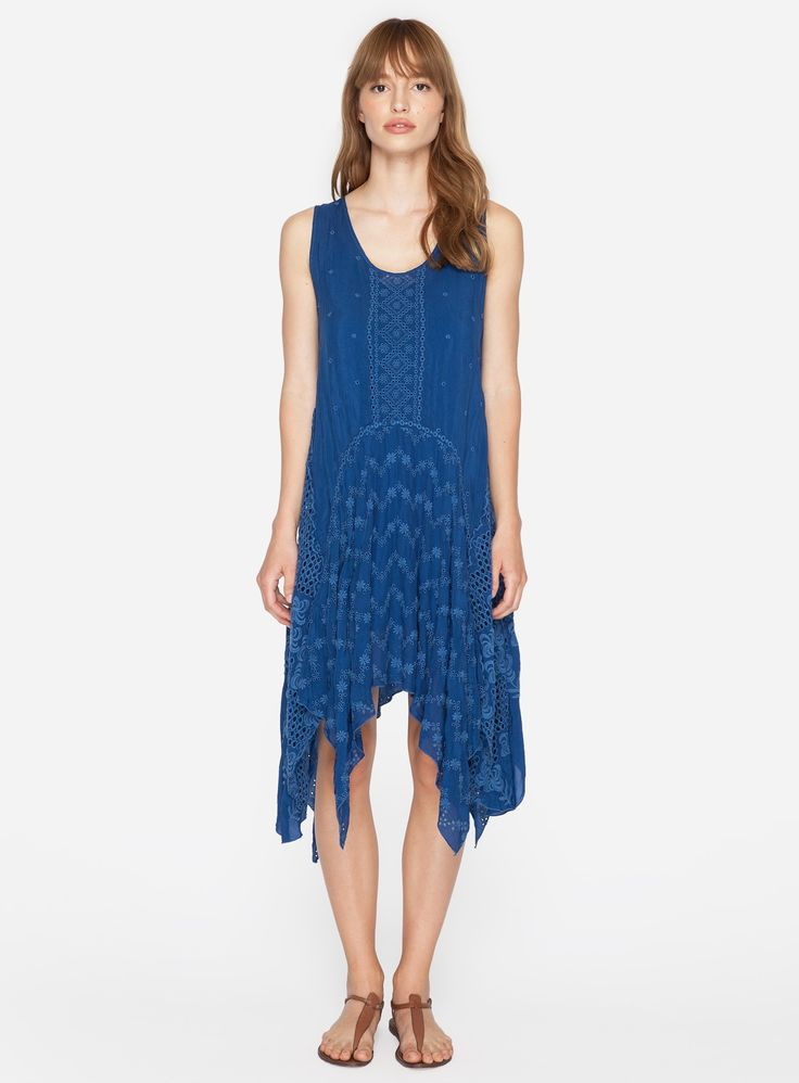 Radio 1 blue dress embroidery