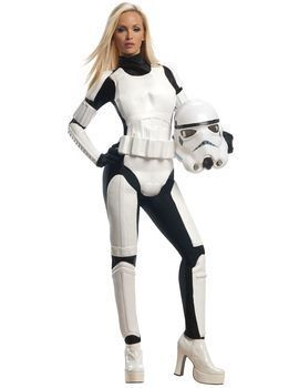 This Adult Star Wars Female Stormtrooper Costume Includes jumpsuit with moulded pieces 2-piece mask and belt Extra Small Dress Size 6 Bust Up to 31