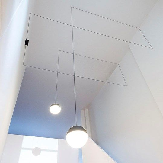 Design With String Lights : String Lights: Discover the Flos suspended lamp model String Lights . Michel Anastassiades ...