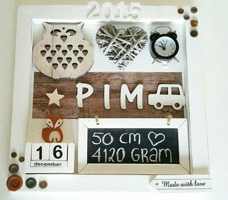 Geboortebord Pim ☆ Troetel.com