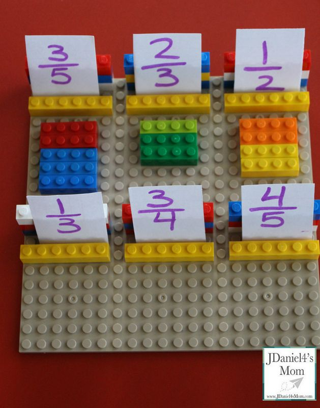 Teaching fractions with LEGOs: great DIY and tips from JDaniel4's Mom