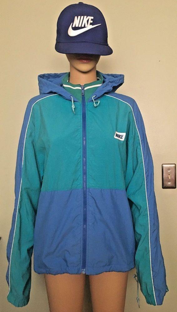37fdfd45b4dc Vintage NIKE Gray-Tag Mens Track Jacket WindBreaker 80s-90s Teal Blue Sz S  VGC!  Nike