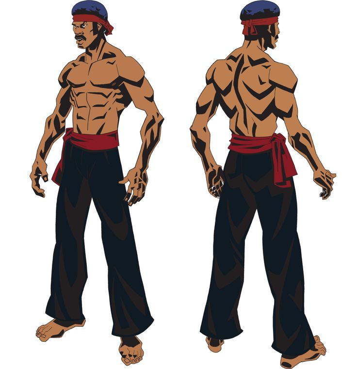 Black Dynamite Kung Fu Character Model