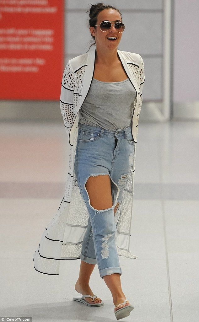 Back in the UK: Axed Hollyoaks star Stephanie Davis as spotted arriving back in the UK tod...