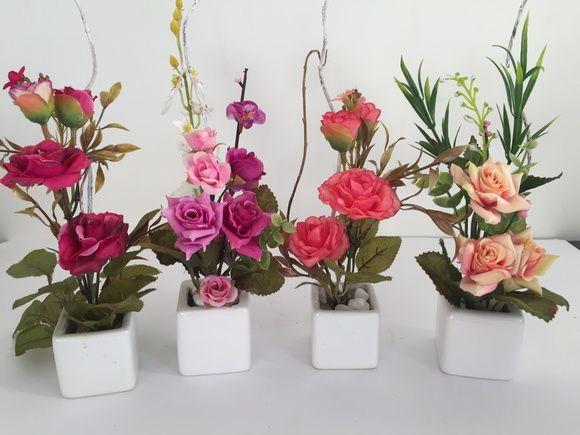 Arranjo De Rosas Artificiais Mini Arranjos De Flores Artificiais