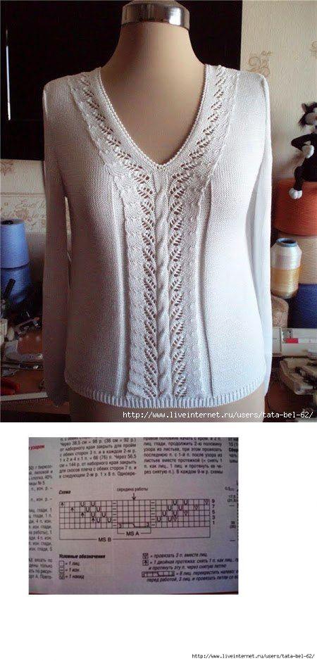 Центральный узор для пуловера
