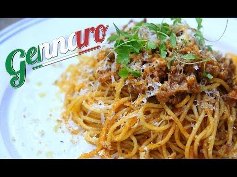 Perfect Spaghetti Bolognese with Gennaro this is so easy and delicious.  I use fresh noodles