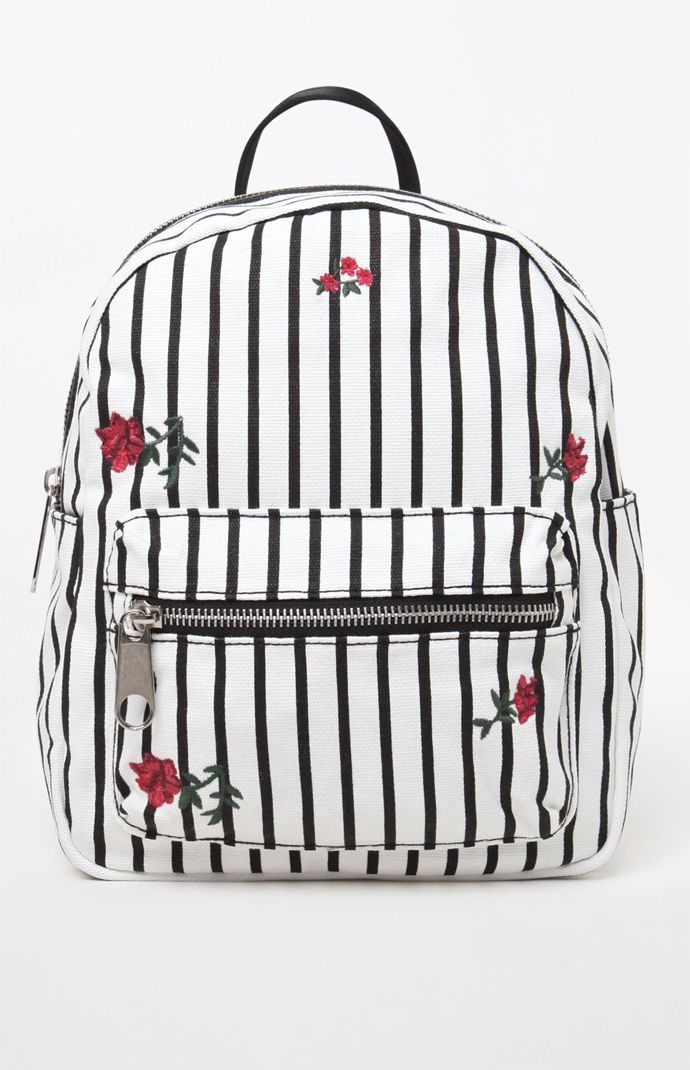 b423bb9cb9 LA Hearts Canvas Striped Mini Backpack at PacSun.com   Backpacks for ...