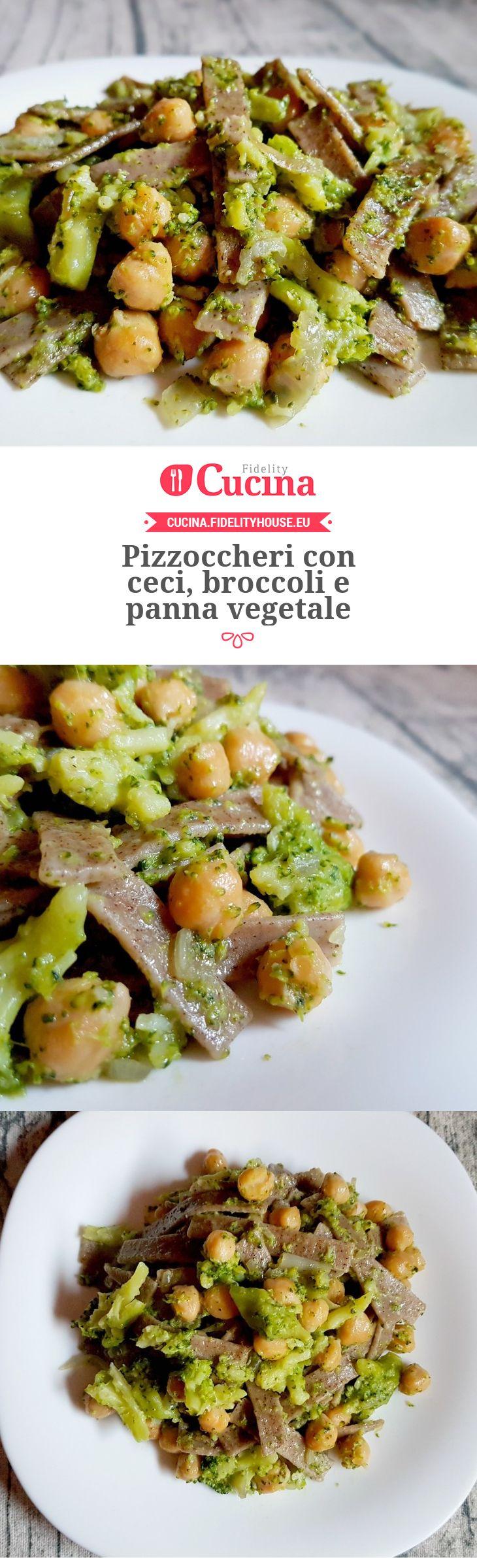 Pizzoccheri con ceci, broccoli e panna vegetale della nostra utente Monica. Unisciti alla nostra Community ed invia le tue ricette!