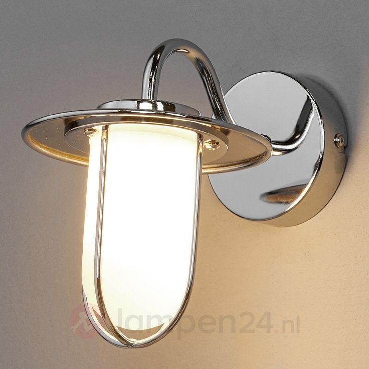 Chromen wandlamp Viala voor de badkamer, G9 LED veilig & makkelijk online bestellen op lampen24.nl
