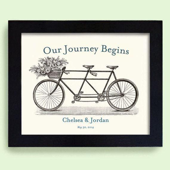Unique Engagement Gift Blue Wedding Gift Decor Romantic Wedding Keepsake Bicycle for Two For Couples Bride and Groom Personalized Wedding    ♥ Whats Not