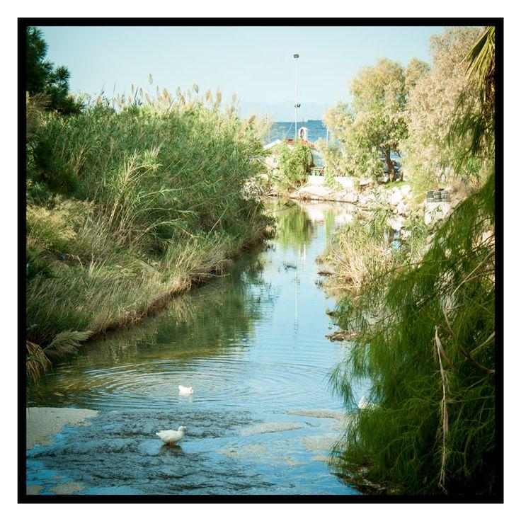 River meets the sea http://julianventer.com/video.html #JulianVenter #Greece #Athens #Alimos