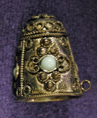 JP: Antique Sterling Silver Afghan Thimble