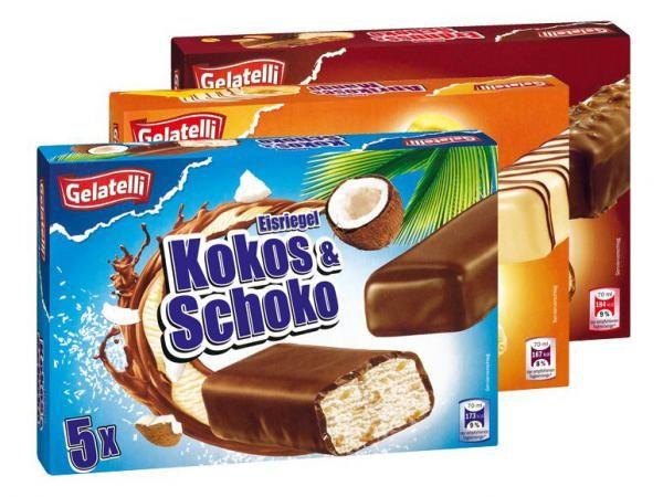 Lidl gelatelli - Barglass med smak av jordnöt: Ingen jordnötssmak överhuvudtaget. en kolasås ligger ojämt fördelad på toppen under chokladtäcket. det sistnämda liknar marabou mjölkchoklad i smaken och är tunn på ett bra sätt. liknar i övrigt mer en marsbar än snickers... 1/5 Triumfglass snickers slår denna med hästlängder.