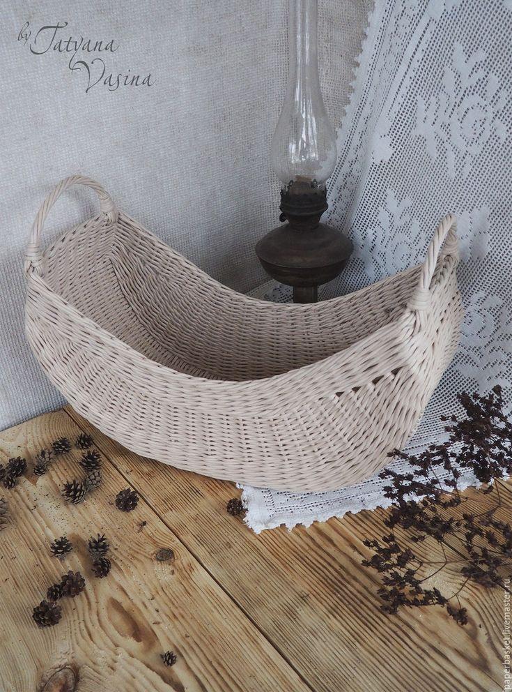 """különleges forma Купить Корзина плетеная """"Необычная"""" - бежевый, для дома и интерьера, для дома, для дачи, необычный подарок"""