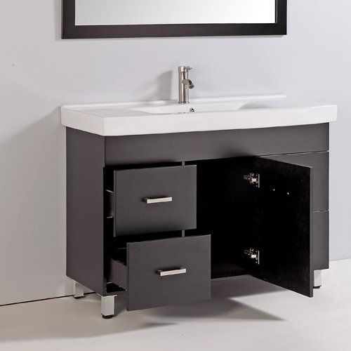 Shop Legion Furniture  WA3748E 48-in Solid Wood Bathroom Vanity with Sink, Mirror, and Faucet at ATG Stores. Browse our bathroom vanities, all with free shipping and best price guaranteed.