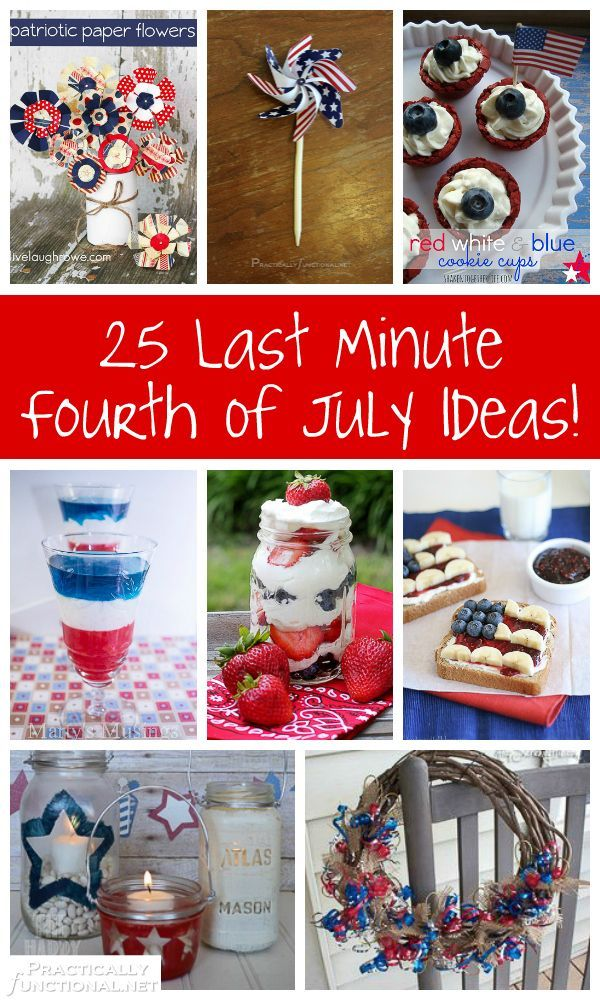25 Last Minute Fourth Of July Ideas!.. Love the patriotic ice cubes and breakfast toast ideas.
