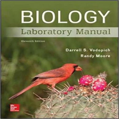 Biology Laboratory Manual 11th Edition By Vodopich Moore