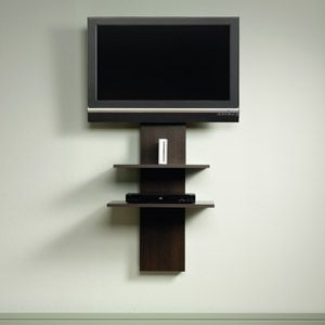 Sauder Beginnings Entertainment Cinnamon Cherry Wall Mount TV Stand For TVs