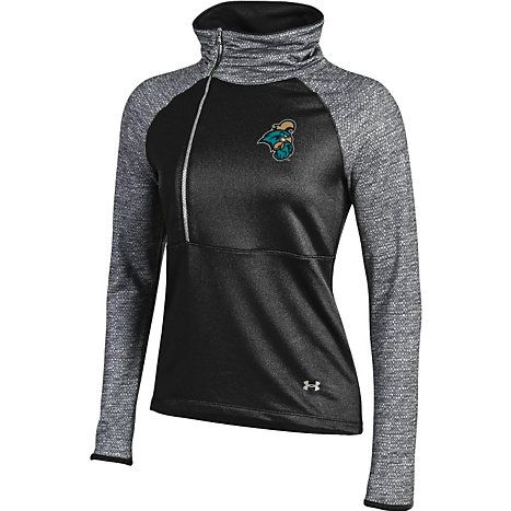 Under Armour® Coastal Carolina University Chanticleers Women's 1/4 Zip Pullover available at the Chanticleer Store in HTC Center and Bkstr.com