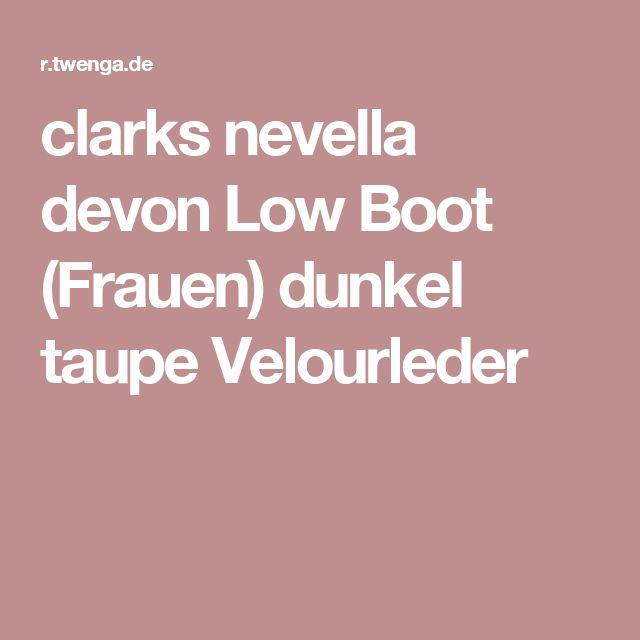clarks nevella devon Low Boot (Frauen) dunkel taupe Velourleder