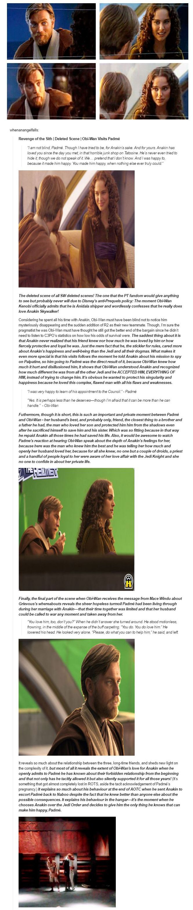 Obi-Wan Kenobi, Padme, and how he feels about the Skywalker marriage