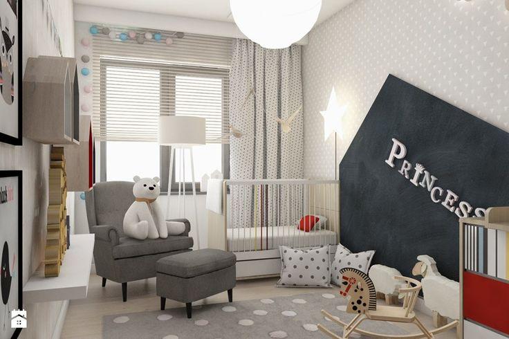 Aranżacje wnętrz - Pokój dziecka: Pokoje dziecięce - Średni pokój dziecka dla dziewczynki dla malucha, styl skandynawski - BAGUA Pracownia Architektury Wnętrz. Przeglądaj, dodawaj i zapisuj najlepsze zdjęcia, pomysły i inspiracje designerskie. W bazie mamy już prawie milion fotografii!