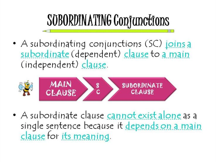 Subordinating Conjunctions Helps