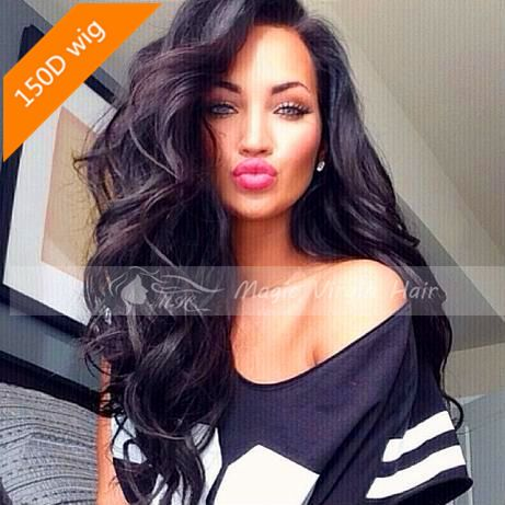 150D Brazilian Virgin Hair Magic Body Wave Full Lace Human Hair Wigs Lace Front Wigs Glueless Full Lace Wig For Black Women US $258.00