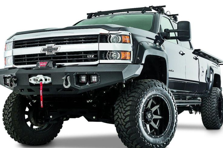 WARN Heavy Duty Truck Bumper, Ascent, Fit 2015-2016 Chevy Silverado 2500-3500. Winch Ready & High Clearance.