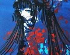 "Tablou pictat in acrilic ""Yuuko Ichihara"""